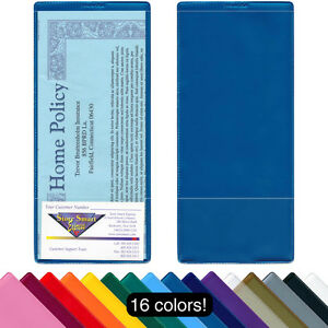 "StoreSMART Brochure & Policy Holder w/ Business Card Pocket 4"" x 9"" 10 Pk INS30"