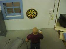 Dart Board w/3 darts- 1/18 Scale - for your Diorama/Shop/Garage