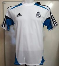 MAILLOT REAL MADRID 2012/13 FORMATION BLANCHE PAR ADIDAS TAILLE 48/50 POUCES POITRINE GRISE