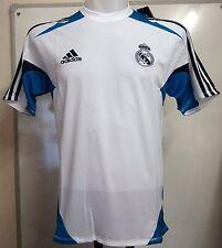 Real Madrid 2012/13 S/S White training shirt par ADIDAS taille 48/50 tour de poitrine NOUVEAU