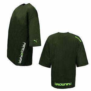 Puma x Rihanna Fenty Womens Short Sleeve Crew Neck T-Shirt Khaki 577271 02 A62B