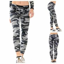 NEW WOMEN'S LADIES GIRLS CASUAL STRETCH CAMOUFLAGE PRINT LEGGINGS PLUS SIZE 8-22