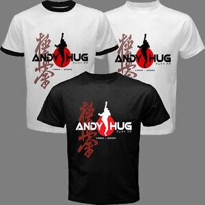 New Andy Hug Kyokushin Karate K-1 Fighter Champion Blue Eyed Samurai T-shirt