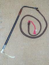 Antique Gents Hunt Whip & Leather Lash H/marked 'London 1923' 'William Barrett'
