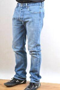LEVIS 501 VINTAGE 90s DENIM MEDIUM BLUE JEANS STRAIGHT LEG  W33 L32 Red Tab