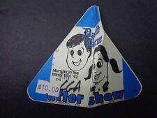 * David Byrne -Talking Heads Concert Tour Backstage Pass Vintage Unused