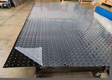 Black Aluminum Diamond Plate Sheet 1 Sheet 0032x48x96