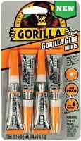 Gorilla Clear Glue Minis, Four 3 Gram Tubes, Clear