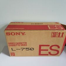 Lot of 10 Blank BETA  Format Video Cassette Tapes New Sealed Sony ES L-750