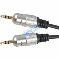 1M PRO 3.5mm Jack Plug To Plug Male Cable - Audio Lead Headphone Aux MP3 iPod