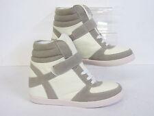 Spot on ladies hi-top wedge boots, F5R0088, White,  (R22B)