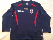 England ISC Gillette Ladies L/S Top Size 10 / 30 Inch Chest Rugby League Jersey