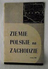 Ziemie Polskie Zachodzie Polish Language Poland Land West Prussia 1946 PB VTG