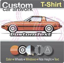 Custom T-shirt 1978 79 80 81 82 83 84 85 Mazda RX-7 RX7 Savanna Turbo GSL SE LS