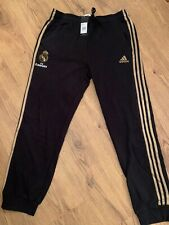 ADIDAS Ufficiale Da Uomo Real Madrid 3//4 Football Training Pants Pantaloni Nero