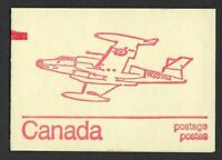 Canada BK74a Caricature 1c, 6c, 8c (book of 6, DF), CF-100 Canuck, counting mark
