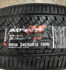 4 New 245 50 18 Yokohama Advan Sport A/S Tires