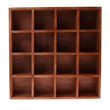 16 Grids Portable Wooden Chest Home DIY Furniture for Storage Case Box Shelf