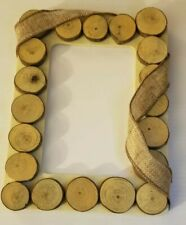 RUSTIC WOOD SLICES HANDMADE PICTURE FRAME
