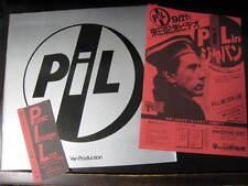 Pil 1983 Japan Tour Book with Ticket Stub & Flyer Concert Program John Lydon