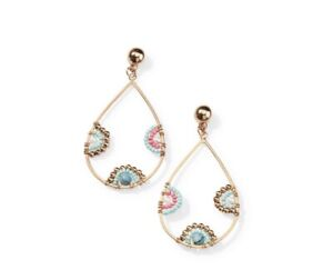 Premier Designs Light As A Feather Women's Earrings - Gold/Brown