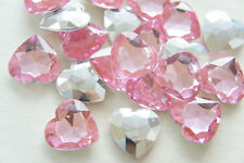 ONE PC - 3 carat Russian Simulated Diamond HEART CUT Pink 9 mm