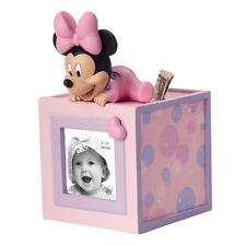 PRECIOUS MOMENTS DISNEY Figurine MINNIE MOUSE Photo Frame Money Bank Cube BABY