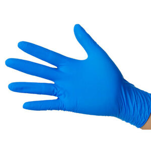 100X Blue Nitrile Powder Free Latex Free Disposable Work Gloves Tattoo Mechanic
