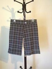 New rue21 women's gray plaid career dress short size 5/6