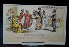 Vintage 1880s Trade Card - Black Americana Lee Mellon Boots Shoes Denver Colo