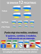 (bt5) 12 x bandera Canarias Pegatina Adhesivo Vinilo Coche Moto Casco BTT