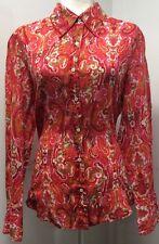 Tommy Hilfiger Ladies Dress Shirt Beautiful Pattern!!