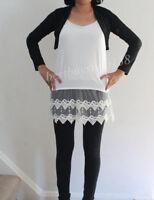 Camisole Lace Trim Extender Long Slip Tank Top Layering Shirt Cami Adjustable