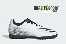 Adidas X Ghosted .4 Bianco Nero Bambino Scarpe Sportive Calcetto FW6801 2020