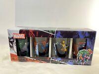 Marvel Series 16oz Pint Glasses Tumbler Set 4-Pack Glassware