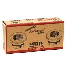 "Audiopipe ATX-100B 100 W Max 1"" 4-Ohms Stereo Car Audio Silk Dome Tweeters"