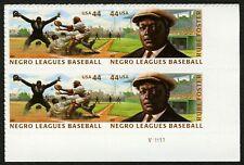 #4466a 44c Negro Leagues Baseball, Plt Blk [V11111 LR], Mint **ANY 4=FREE SHIP**