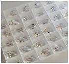 12 SWAROVSKI CRYSTAL 11x 5.5mm TEARDROP Pendants Beads Suncatcher 6000 CLEAR