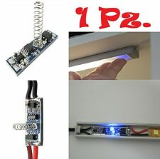 Interruttore DIMMER a sfioro TOUCH per barre led profili in alluminio strip led