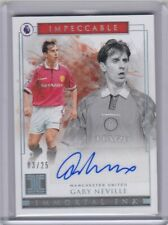 Panini Impeccable Soccer 3/25 Gary Neville Silver Autograph Manchester United SP