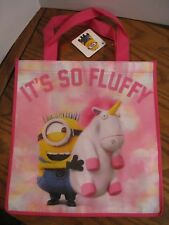 Despicable Me Tote Bag w/ Minion holding Unicorn - IT'S SO FLUFFY