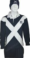 Mens Scotland Rugby Top Jersey Full Sleeve Navy Great Quality
