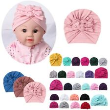 3Pcs Newborn Baby Headband Headwear Boys Girls Beanie Cap Infant Turban Bow Hat