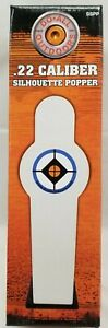 Do-All Outdoors White Silhouette .22 Caliber Popper Steel Shooting Target - SSPP