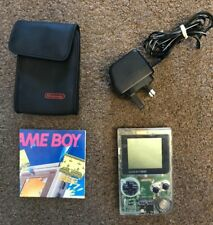 Nintendo Gameboy Pocket MGB-001 Clear with Nintendo Carry Case, Adapter, Manual