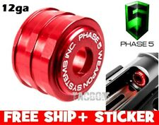 PHASE 5 Low Drag HIGH Visibilty 12 gauge Magazine Follower 7075 Billet RED 12ga