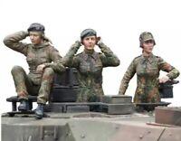 1/16 Resin Figure Model Kit German Tank Soldiers Sexy Girl (3 figures) Unpainted