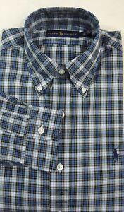 $125 Ralph Lauren Polo Pony Long Sleeves Plaid Dress Shirt 14.5 15.5 16.5 17.5