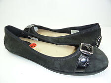 Women's Sperry Top-Sider Driving Ballet Flats Black Buckle Boat Shoe 6.5