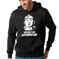 Respect my Authoritah Kim Jong-Un Cartman Satire Fun Kapuzenpullover Hoodie